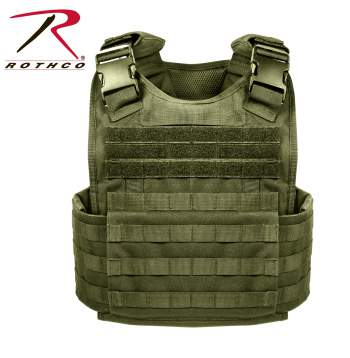 Rothco MOLLE Plate Carrier Vest - 8924-A1 - Olive Drab