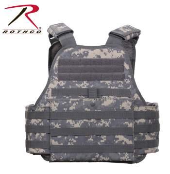 Rothco MOLLE Plate Carrier Vest - 8932-A1 - Digital Camo