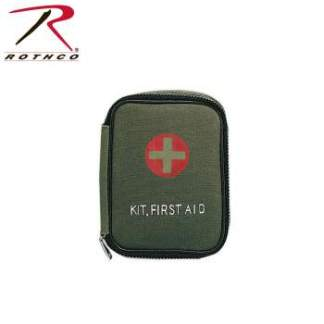 Rothco Military Zipper First Aid Kit - 8328-hr2 - Olive Drab