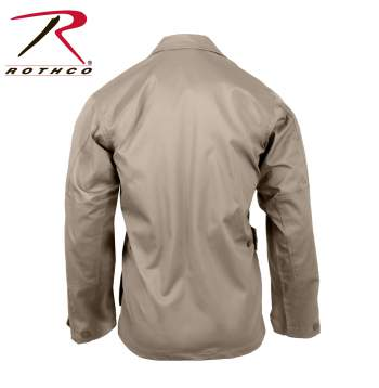 Rothco Poly-Cotton Twill Solid BDU Shirts - 7900-D - Khaki