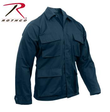 Rothco Poly-Cotton Twill Solid BDU Shirts - 7952-B - Midnight Navy Blue