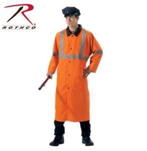 Rothco Reversible Reflective Rain Parka - 3889-B - Black-Orange