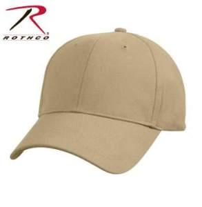 Rothco Supreme Solid Color Low Profile Cap - 8977-A - Khaki