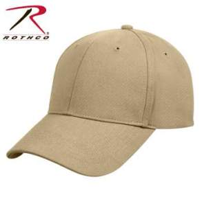 Rothco Supreme Solid Color Low Profile Cap - 8977-B2 - Khaki