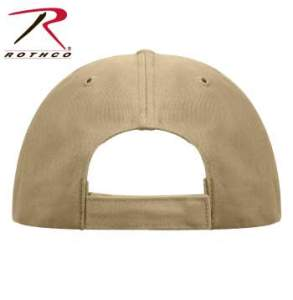 Rothco Supreme Solid Color Low Profile Cap - 8977-D - Khaki