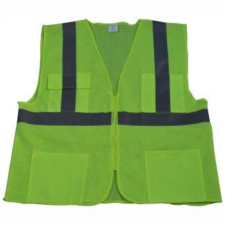 Petra Roc - Hi Visibility Safety Vest - LVM24-F1100-Lime-Front