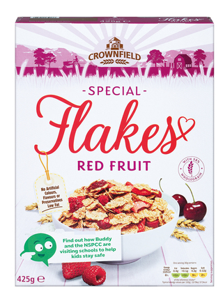 Special flakes red fruit crownfield cereals