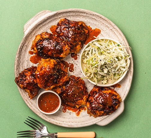 Chipotle Chicken and slaw easy recipe