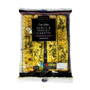 Garlic and Parsley Ciabatta Breadsticks
