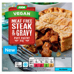 Meat-Free Steak & Gravy Puff Pastry Pie