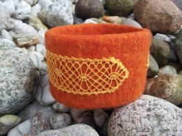 Armreifen kloeppeln orange