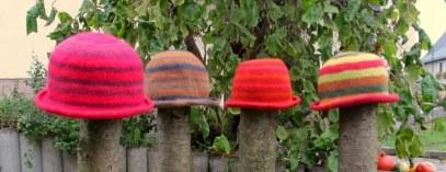 Hüte gefilzt