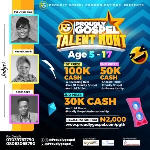 Proudly Gospel Opens Registration For Her Talent Hunt