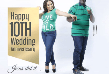 Sammie Okposo And Wife Celebrate 10 Years Wedding Anniversary