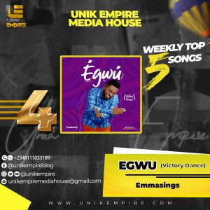 Unik Empire Media House top 5 songs second week of November, 2019