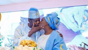 Adeboye Celebrate Wife With A Kiss On Her Birthday, Shares Lessons Younger Ladies Can Learn From Her