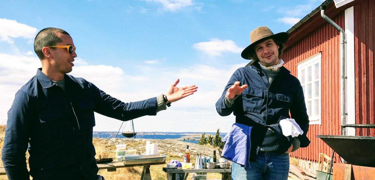 Filip Fastèn og Joel Åhlin fra restauranten Agrikultur,Grönskär Stockholms Skjærgård, Sverige