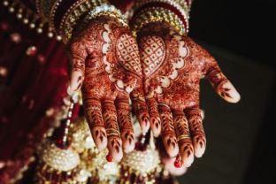 Applying Mehndi On Wedding day