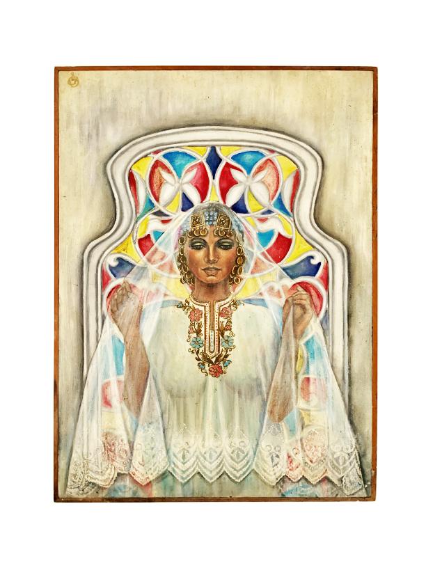 tableau art deco orientaliste