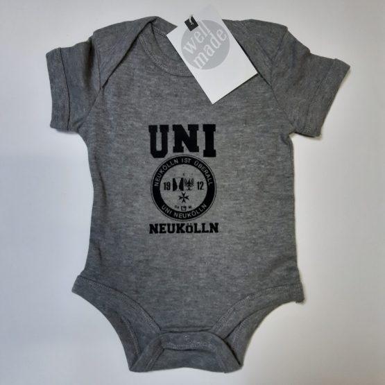 Uni Neukölln Baby Body grau