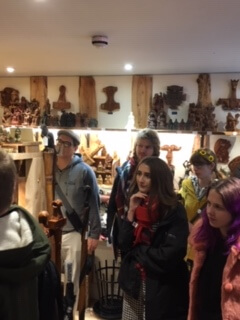 Students talk with Stuart Brogan on all things Heathen in his dedicated shop Shield Maiden.