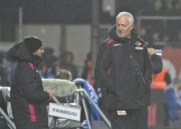 Union coaches in the drizzle