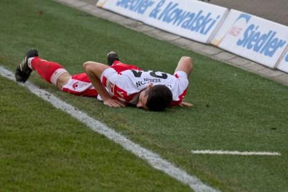 Skrzybski hit the ground