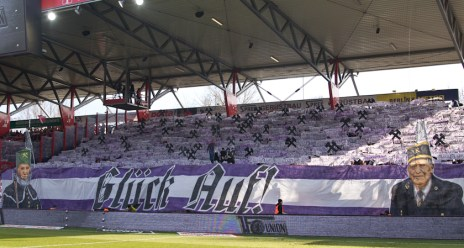 Full and vibrant away end
