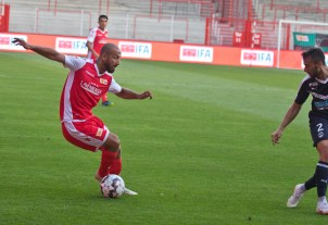 Akaki Gogia after his substitution