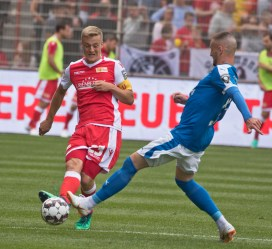 Kroos in action in the first half