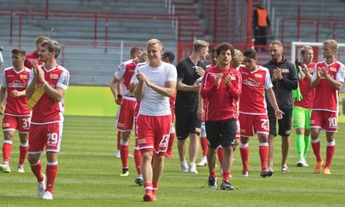 Union players post match