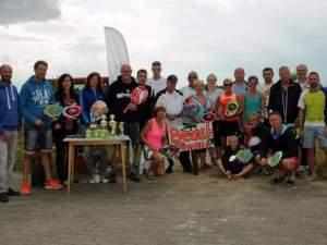 26 Teilnehmer aus zehn Vereinen begrüßte Sabine Tobiasch zum 2. Barbyer Beach-Tennis-Cup. Foto: Michael Küssner