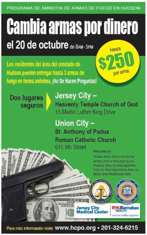 POSTER 2018 09 24 Gun Buy Back Spanish JCMC