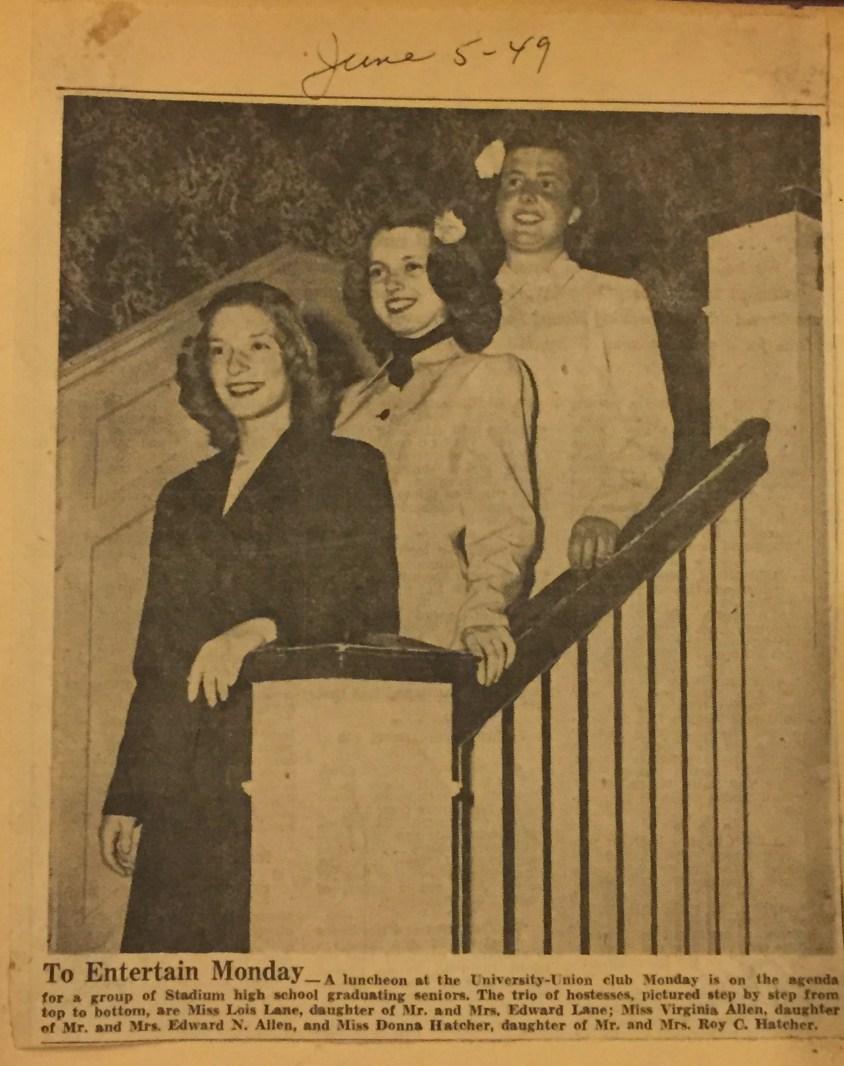 graduation seniors 1949