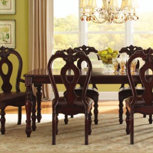 Union Furniture Dining Room table 4 side chairs