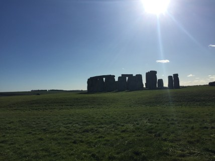 Look at that sun shining down on Stonehenge!