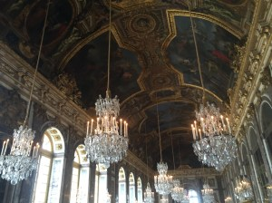 Inside the Hall of Mirrors in the Palace.