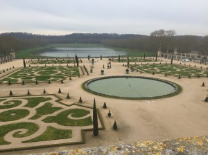 The beautiful gardens at Versailles.