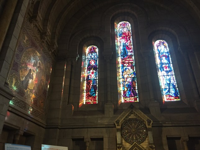 Look at the way the sun is reflected on the wall through the stained glass. Stunning.