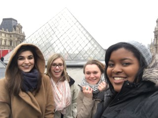 Here are my friends again! This time we are at the Louvre together.
