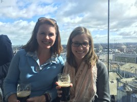 Mum + me + Guinness = a great time! This picture was taken at the Gravity Bar on the seventh floor of the Guinness Storehouse.