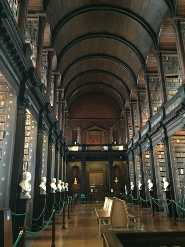 Here is the lovely Trinity College Library. I am very jealous that this is Anna's library abroad!