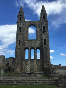 I saw the ruins of the Catholic Cathedral in St. Andrews. The Catholics destroyed it themselves before the Protestant invaders had the chance.