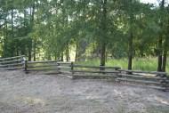 Split rail fence on property GA