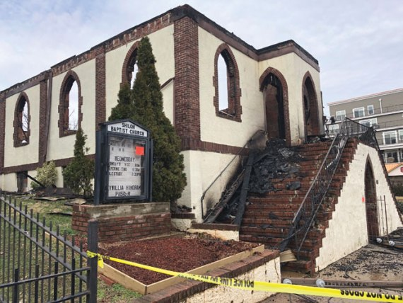 Fire ravages historic church
