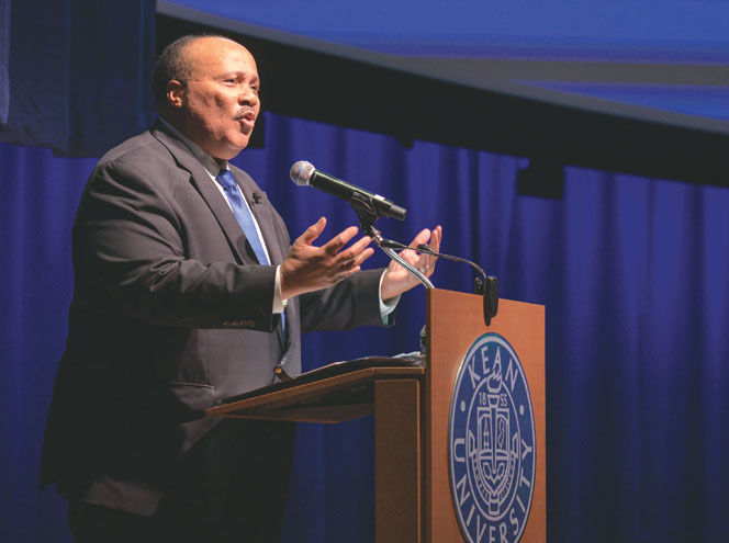 Following in his father's footsteps, activist Martin Luther King III gives speech at Kean University