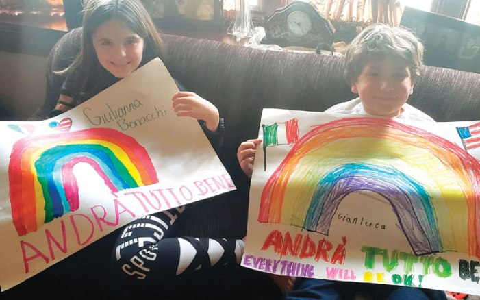 Clark students provide rainbows of hope during crisis