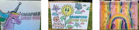 Lawn signs brighten Cranford during coronavirus quarantine