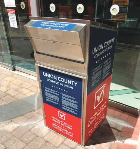 Five secure drop-off boxes available for Union County voters