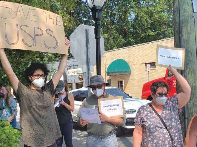 Cranford residents rally to save the U.S. Postal Service
